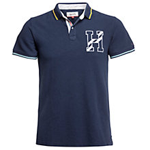 Buy Hilfiger Denim Coventry Organic Cotton Polo Shirt, Black Iris Online at johnlewis.com