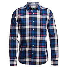 Buy Hilfiger Denim Long Sleeve Regular Fit Check Shirt, Black Iris/Multi Online at johnlewis.com