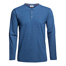 Buy Tommy Hilfiger Long Sleeve Henley T-Shirt, Mid Indigo Online at johnlewis.com