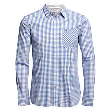 Buy Tommy Hilfiger Dobby Check Slim Fit Shirt, True Blue/Multi Online at johnlewis.com