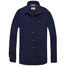 Buy Tommy Hilfiger Stretch Long Sleeve Shirt, Black Iris Online at johnlewis.com