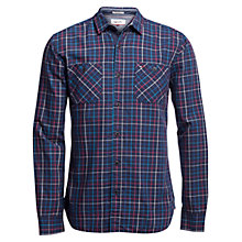 Buy Hilfiger Denim Check Regular Fit Shirt, Black Iris/Multi Online at johnlewis.com