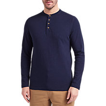 Buy John Lewis Plain Slub Cotton Henley T-Shirt Online at johnlewis.com