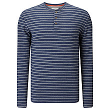 Buy John Lewis Stripe Waffle Henley Shirt Online at johnlewis.com