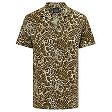 Buy JOHN LEWIS & Co. Thistle Flower Print Short Sleeve Shirt, Khaki Online at johnlewis.com