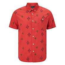 Buy JOHN LEWIS & Co. Ikat Pattern Short Sleeve Shirt, Chutney Online at johnlewis.com