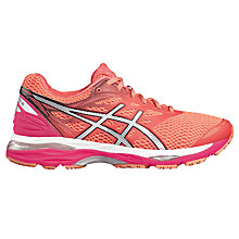 Buy Asics GEL-CUMULUS 18 Women's Running Shoes, Pink/Silver Online at johnlewis.com