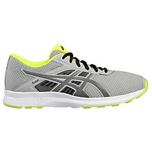 Buy Asics Fuzor Men's Running Shoes, Grey/Black Online at johnlewis.com