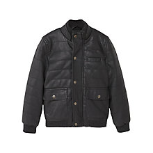 Buy Mango Kids Boys' Quilted Bomber Jacket, Black Online at johnlewis.com