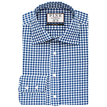 Buy Thomas Pink Fleming Check with Floral Detail Slim Fit Shirt, White/Blue Online at johnlewis.com