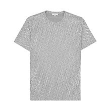 Buy Reiss Bridge Fleck Print T-Shirt, Grey Melange Online at johnlewis.com