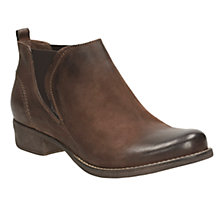 Buy Clarks Colindale Block Heeled Ankle Boots, Dark Tan Online at johnlewis.com
