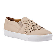 Buy John Lewis Edel Floral Slip On Trainers, Nude Online at johnlewis.com