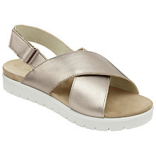 Buy John Lewis Designed for Comfort Leah Cross Strap Flatform Sandals, Gold Online at johnlewis.com