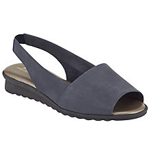 Buy John Lewis Designed for Comfort Conure Sandals, Navy Online at johnlewis.com