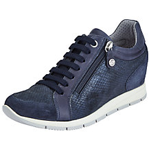 Buy John Lewis Designed for Comfort Esi Concealed Wedge Trainers, Navy Online at johnlewis.com
