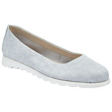 Buy John Lewis Designed for Comfort Heidi Slip On Pumps, Silver Online at johnlewis.com