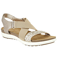 Buy John Lewis Designed for Comfort Lillian Cross Strap Sandals, Gold Online at johnlewis.com