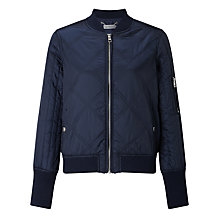 Buy Calvin Klein Opal Quilted Bomber Jacket, Navy Blazer Online at johnlewis.com