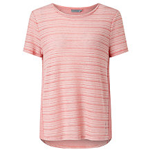 Buy Calvin Klein Lulu Self Stripe Top, Mauve Glow Online at johnlewis.com
