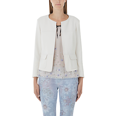 Marc Cain Edge To Edge Crepe Jacket, Cream