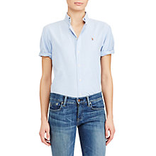 Buy Polo Ralph Lauren Relaxed Fit Oxford Shirt, Blue Hyacinth Online at johnlewis.com