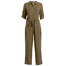 Buy Max Studio Shirt Jumpsuit, Olive Online at johnlewis.com