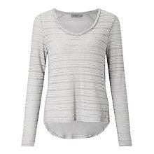 Buy Calvin Klein Luca V-Neck Self Stripe Top, Light Grey Heather Online at johnlewis.com