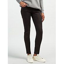 Buy Calvin Klein Mid Rise Skinny Jeans, Pop Black Online at johnlewis.com