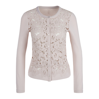 Marc Cain Lace Front Cardigan, Shell