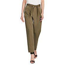 Buy Polo Ralph Lauren Straight Belted Trousers, Basic Olive Online at johnlewis.com