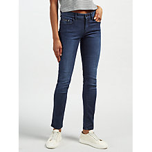 Buy Calvin Klein High Rise Sculpted Skinny Jeans, Dark Rinse Online at johnlewis.com