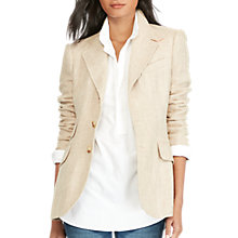Buy Polo Ralph Lauren Hacking Blazer, Tan Herringbone Online at johnlewis.com