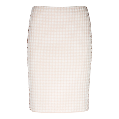 Marc Cain Gingham Pencil Skirt, Shell