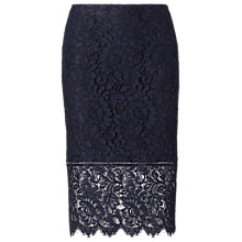 Buy Polo Ralph Lauren Lace Pencil Skirt, Admiral Navy Online at johnlewis.com