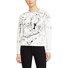 Buy Polo Ralph Lauren Paint Splatter Sweatshirt, Nevis Online at johnlewis.com