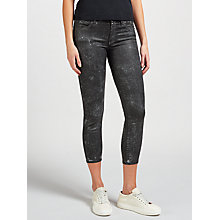 Buy Polo Ralph Lauren Tompkins Cropped Skinny Jeans, Black Ground Clay Online at johnlewis.com