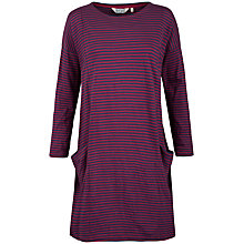 Buy Seasalt Mill Pool Stripe Jersey Dress, Weatherboard Galley Wine Online at johnlewis.com