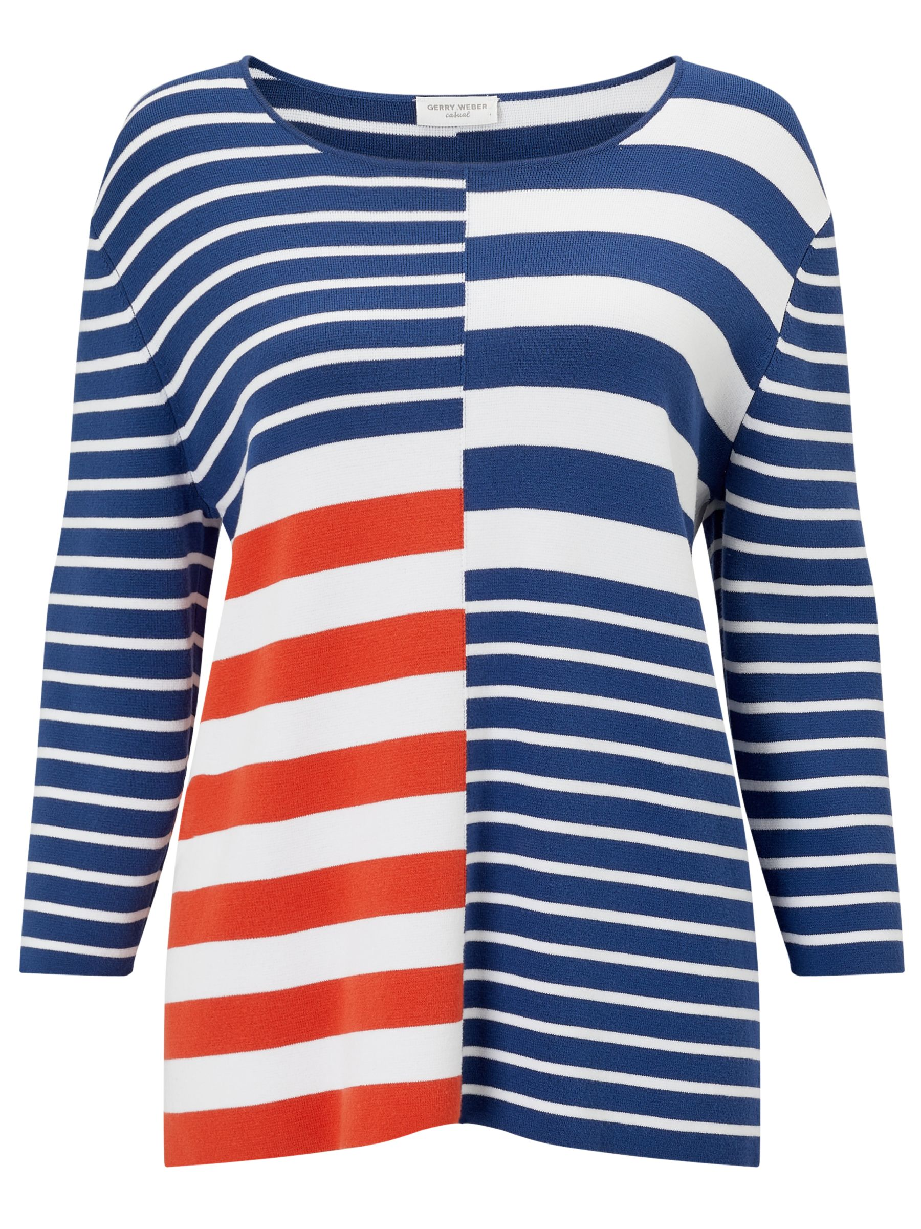 Gerry Weber Gerry Weber Colour Block Stripe Jumper, Multi