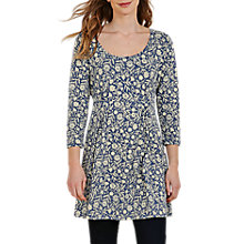 Buy Seasalt Treecreeper Printed Tunic Dress, Lace Flower Marine Online at johnlewis.com