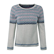 Buy Seasalt Ley Stone Fairisle Jumper, Bargello Aran Online at johnlewis.com