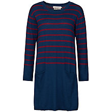 Buy Seasalt Nivert Stripe Knitted Tunic Dress, Penare Galley/Wine Online at johnlewis.com