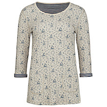 Buy Seasalt Tregoose Long Sleeve Reversible Boat Print Tunic, Natural/Blue Online at johnlewis.com