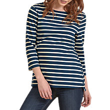 Buy Seasalt Stay Sail Jersey Top, Breton Night Ecru Online at johnlewis.com