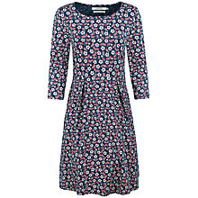 Buy Seasalt The Mouls Three-Quarter Sleeve Printed Dress, Pink Online at johnlewis.com