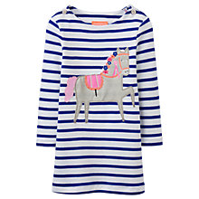 Buy Baby Joule Kaye Horse Appliqué Dress, Navy/White Online at johnlewis.com