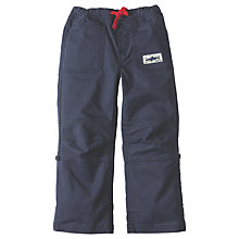 Buy Frugi Organic Boys' Sailor Roll Up Trousers, Navy Online at johnlewis.com
