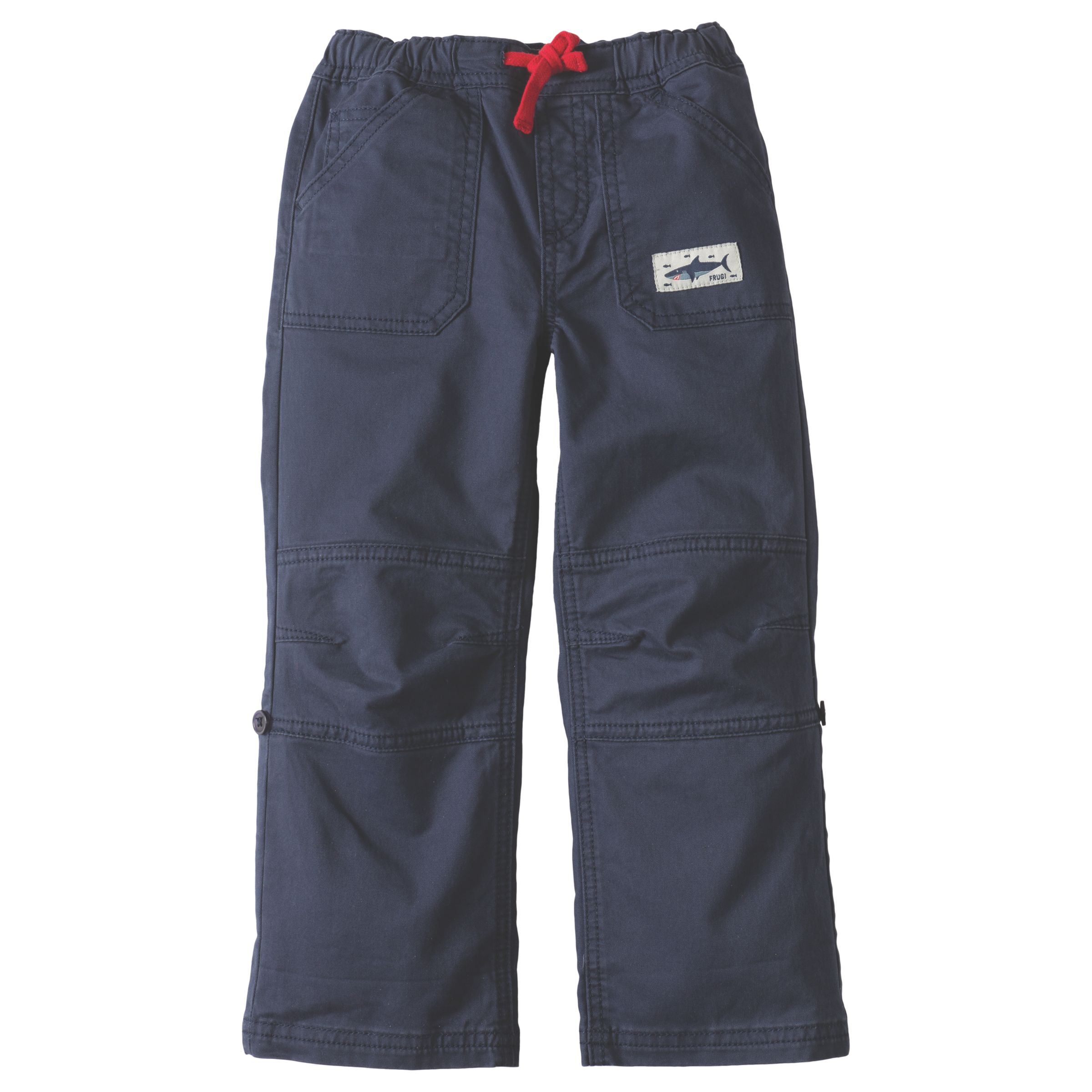 Frugi Organic Frugi Organic Boys' Sailor Roll Up Trousers, Navy