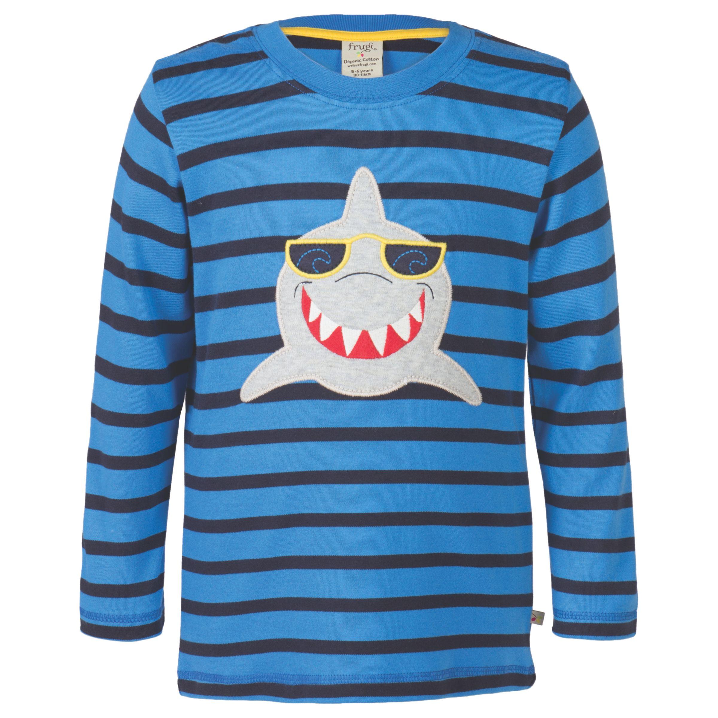Frugi Organic Frugi Organic Boys' Discovery Shark Top, Blue