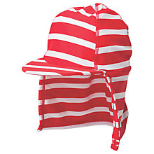 Buy Frugi Organic Baby Little Swim Striped Legionnaires Hat, Red/White Online at johnlewis.com